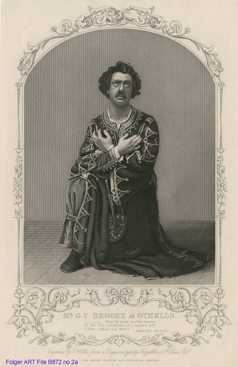 Realistic portrait of man in costume on bended knee.