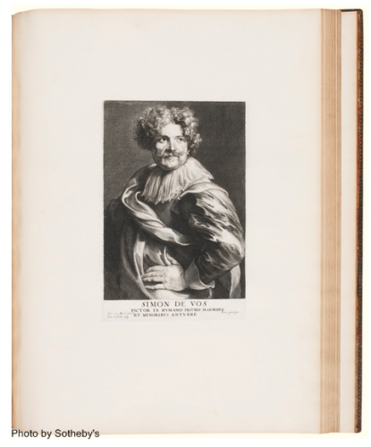Page from Sir Anthony Van Dyck's album of prints.
