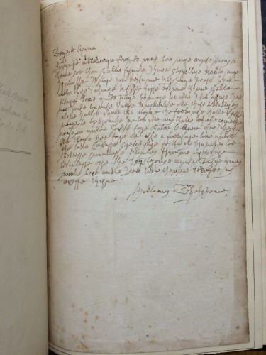 Folger MS S.b.159. Folger MS S.b.119. Autograph copy of Ireland's forged letter from Shakespeare to Anne Hathaway.