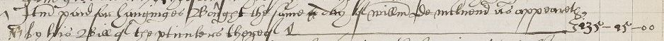 Line entry from manuscript page