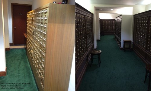 two card catalog rooms