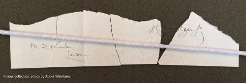 several pieces of paper that fit together to form the lower edge
