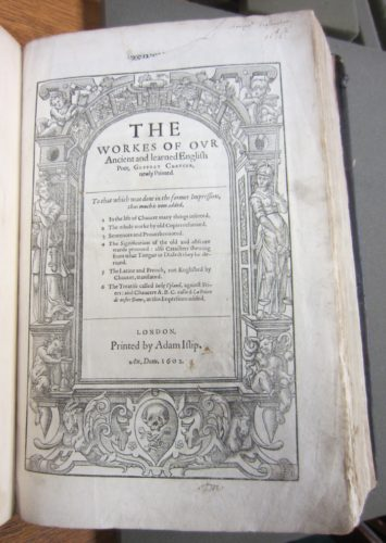 Ben Jonson's copy of Chaucer (STC 5080 copy 3)