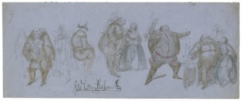 Falstaff in four different poses, George Cruikshank, ART Box C955 no.5 (size S)