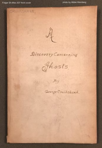 handwritten cover of A Discovery Concerning Ghosts by George Cruikshank