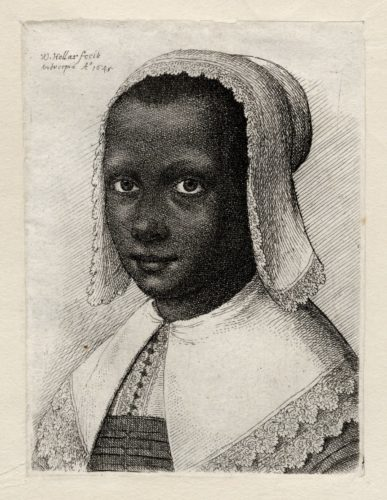 Portrait of a young African woman, Wenceslaus Hollar, 1645. ART Vol. b35 no.46