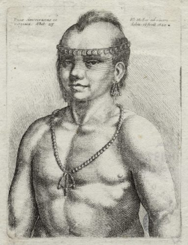 Unus Americanus ex Virginia, aetat, Wenceslaus Hollar, 1645. (ART Box H737.5 no.29)