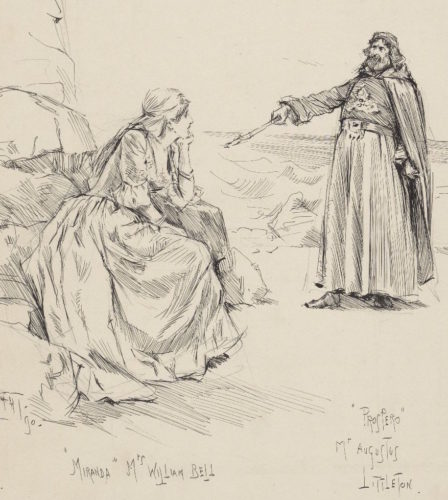 F. H. Townsend illustration of Miranda and Prospero, from Art Box T747 no.13 (size L)
