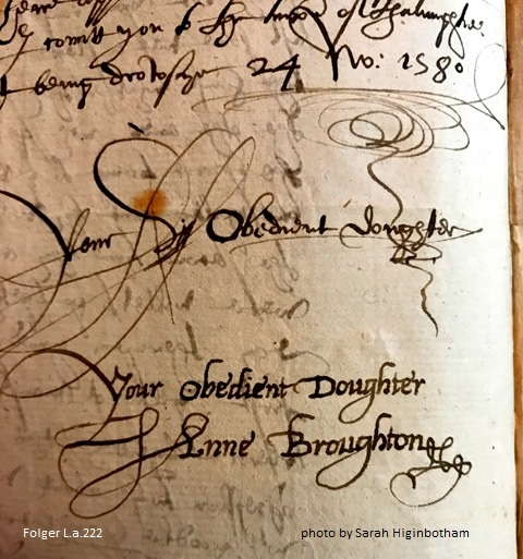 Signature of Anne (Bagot) Broughton