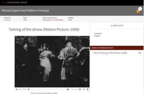 Screenshot of Taming of Shrew silent moie
