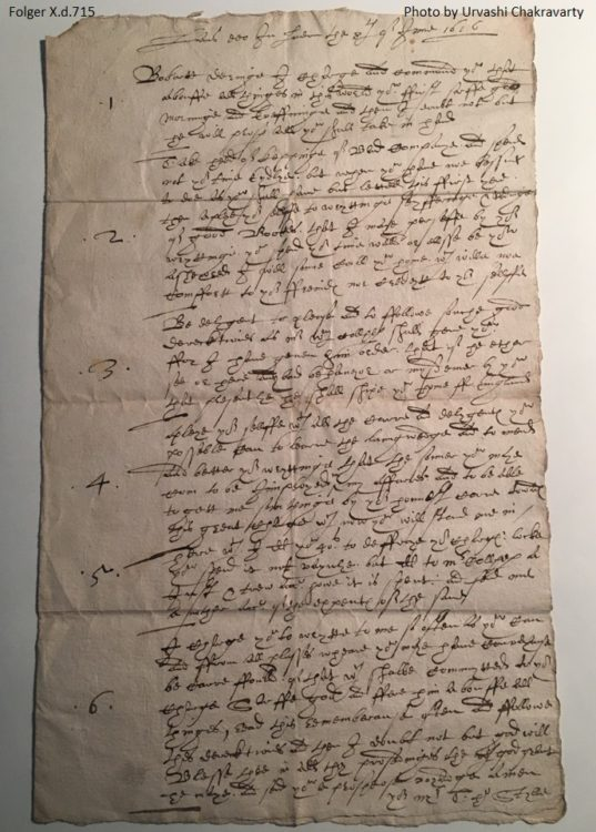 Letter from Thomas Style to Robert Dering