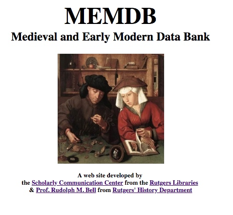 Medieval and Early Modern Data Bank
