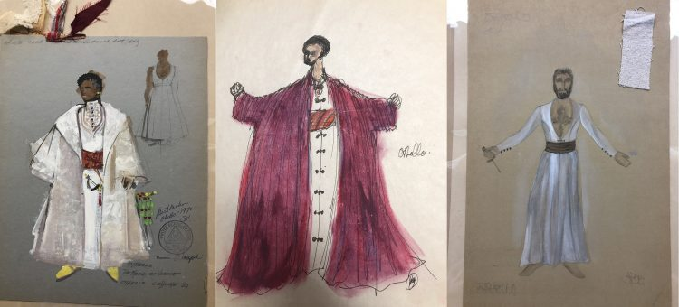 "Costume design for productions of ""Othello"" with Earle Hyman"