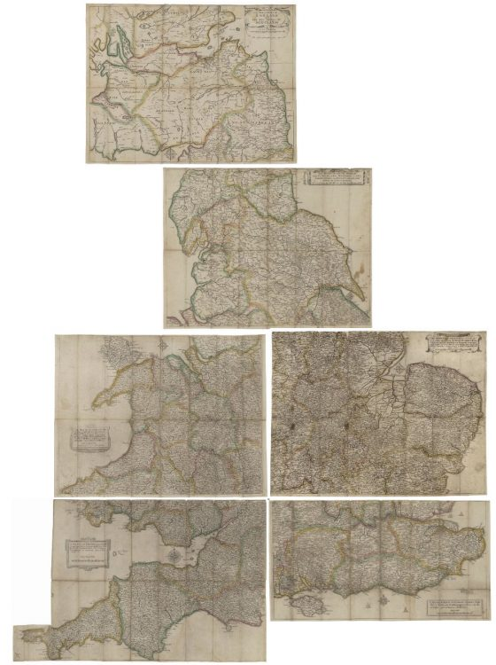 Six map sheets