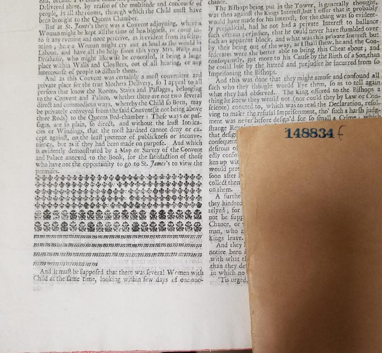 Half page of printed text