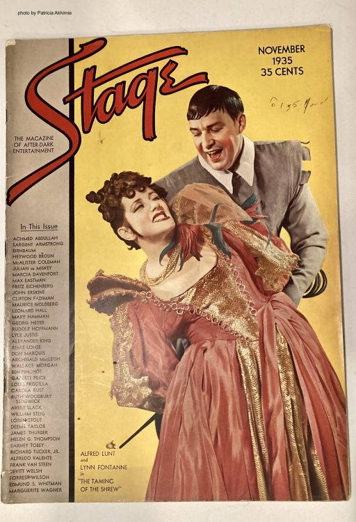 cover of Stage magazine showing a man and a woman in a dance pose
